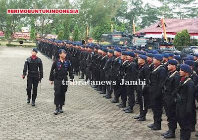 Wakapolda Jambi Pimpin Upacara HUT Brimob ke-74