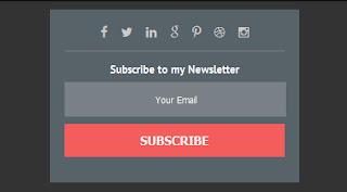 html форма подписки на сайт первый вариант