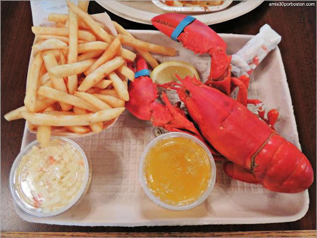 Langosta en Al's Seafood, New Hampshire