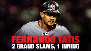 Único jugador con 2 Grand Slams en un mismo inning, Fernando Tatis. Record de más carreras impulsadas en un mismo inning