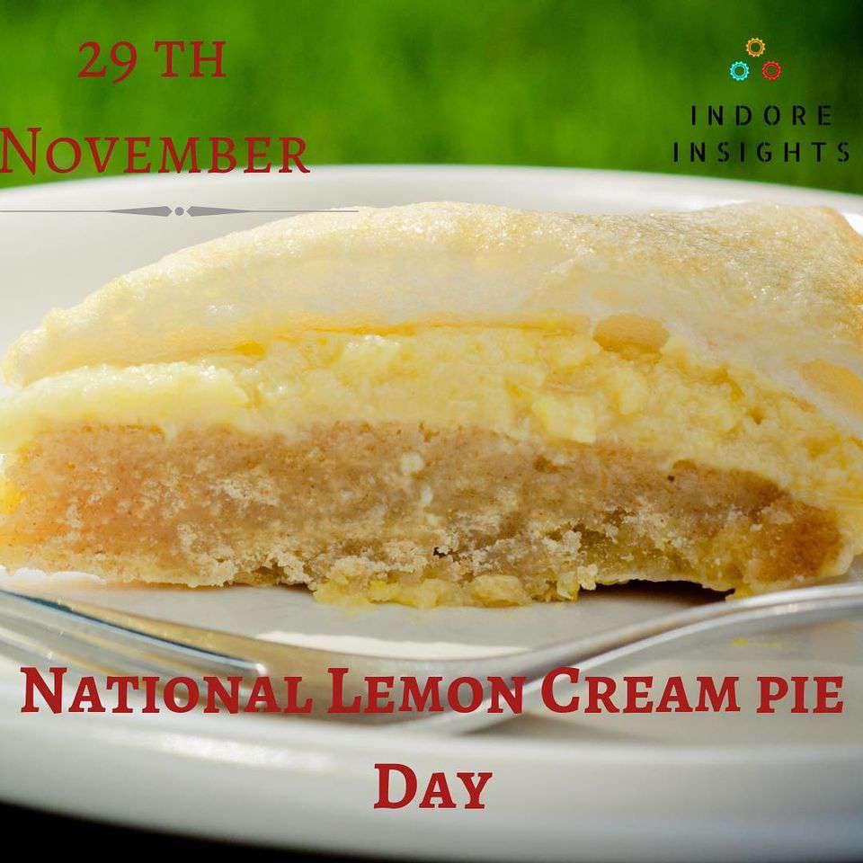 National Lemon Cream Pie Day Wishes Unique Image