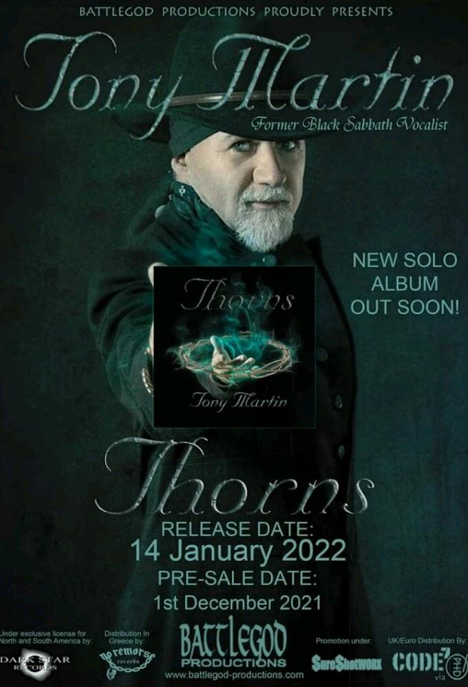 Tony martin thorns Previa 1 de dezembro 2021 e album 14 de janeiro de 2022