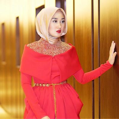 Tutorial Memakai Hijab Pashmina Kreasi untuk Acara Pesta