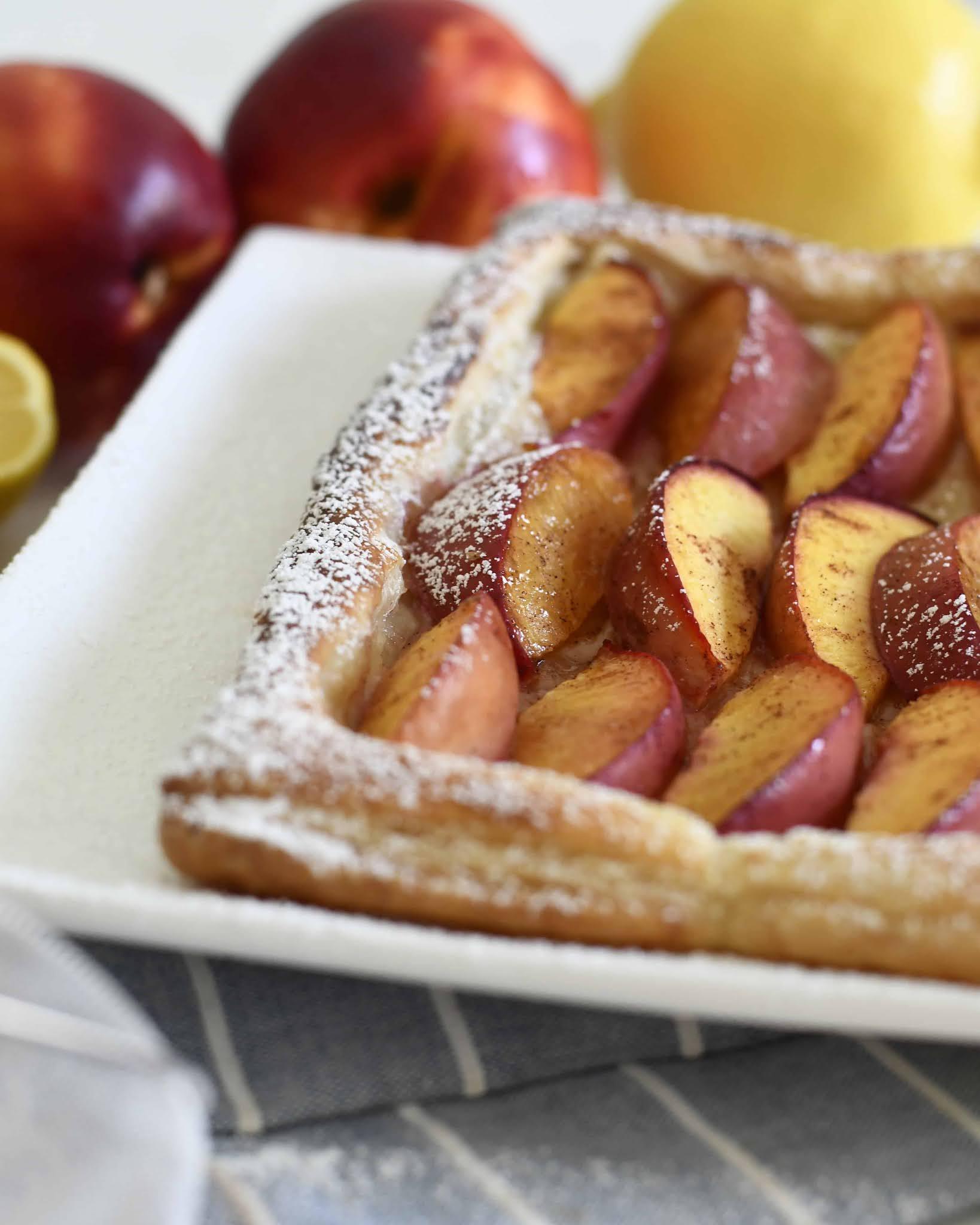 Puff Pastry Peach Tart