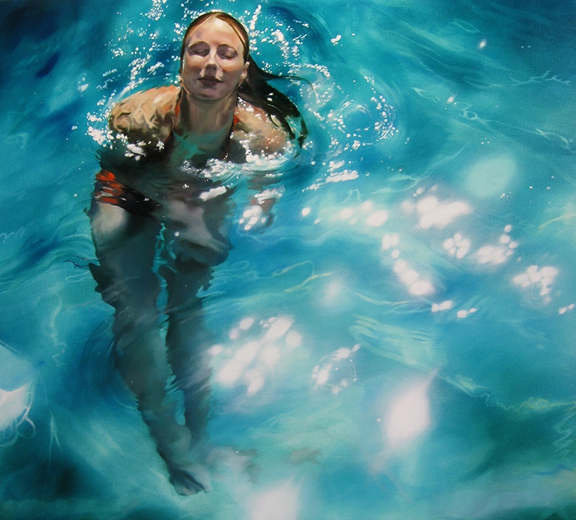 05-Sarah-Harvey-Self-Portraits-of-Realistic-Underwater-Paintings-www-designstack-co