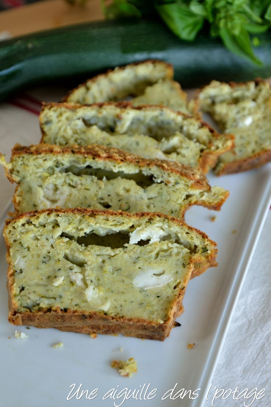 Cake Courgette Chevre Sans Huile