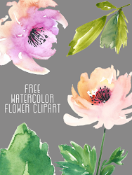clip watercolor water cut flower floral rose create clipart round ultimate floarl update