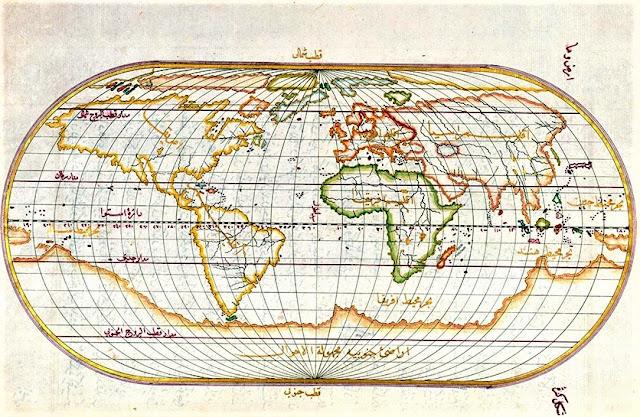 Peta Dunia Muhidin Piri Reis (1513)