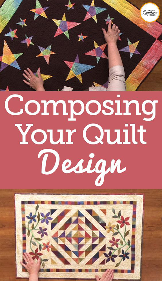 The Basic Composition of Quilt Designs by Heather Thomas of National Quilters Circle