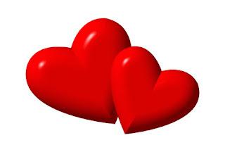 قلوب حمراء رومانسية جميلة