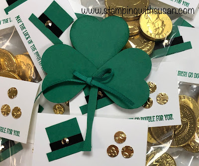 Stampin' Up!, www.stampingwithsusan.com, Punch Art, Happy St Patty's Day,
