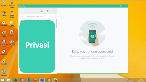 Tampilan WhatsApp di Windows 8