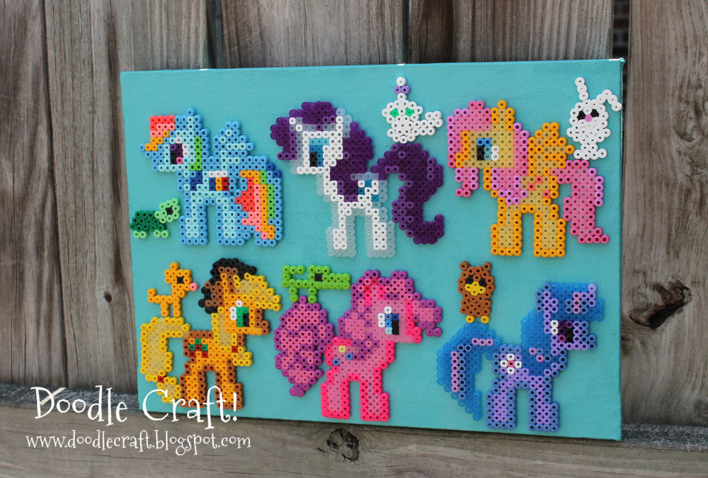 Doodlecraft My Little Pony Perler Bead Art