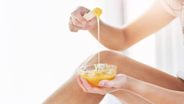 waxing hair removing method