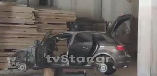 Του άφησαν μόνο το σκελετό του ολοκαίνουριου αυτοκινήτου του!