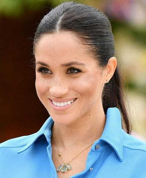 Meghan Markle wore Veronica Beard Sky Blue Cara dress