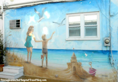 Beach Life Wall Mural in North Wildwood New Jersey