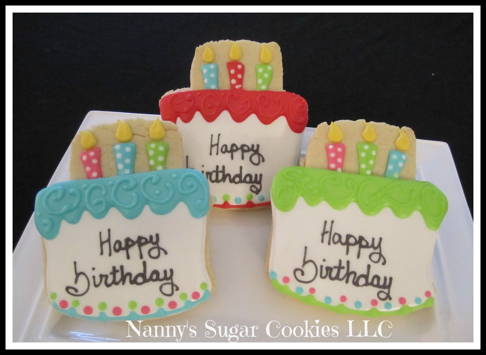 Nannys Sugar Cookies LLC Birthday Cookie Favors