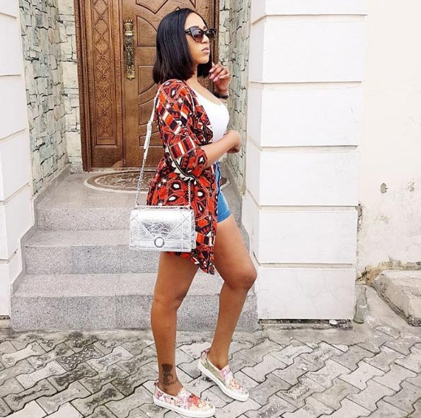 Actress Rukky Sanda flaunts long legs as she steps out in bumshorts
