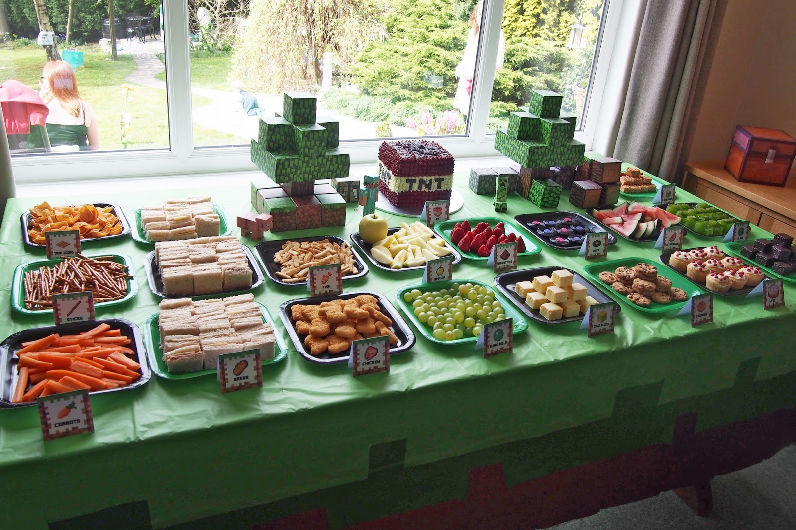 Minecraft Birthday Party Food Ideas