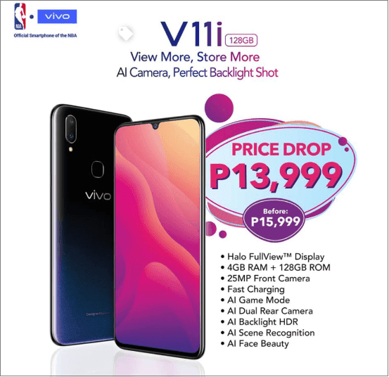 Vivo V11i gets a price drop, now only PHP13,999