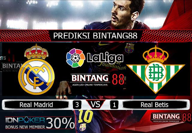 Prediksi Real Madrid vs Real Betis 3 November 2019 – Pada hari Minggu, 3 November 2019 pukul 00:00 waktu indonesia barat akan di adakan laga pertandingan Liga Spanyol antara Real Madrid vs Real Betis. Pertandingan ini nantinya akan di laksanakan di Stadion Renato Dall'Ara.