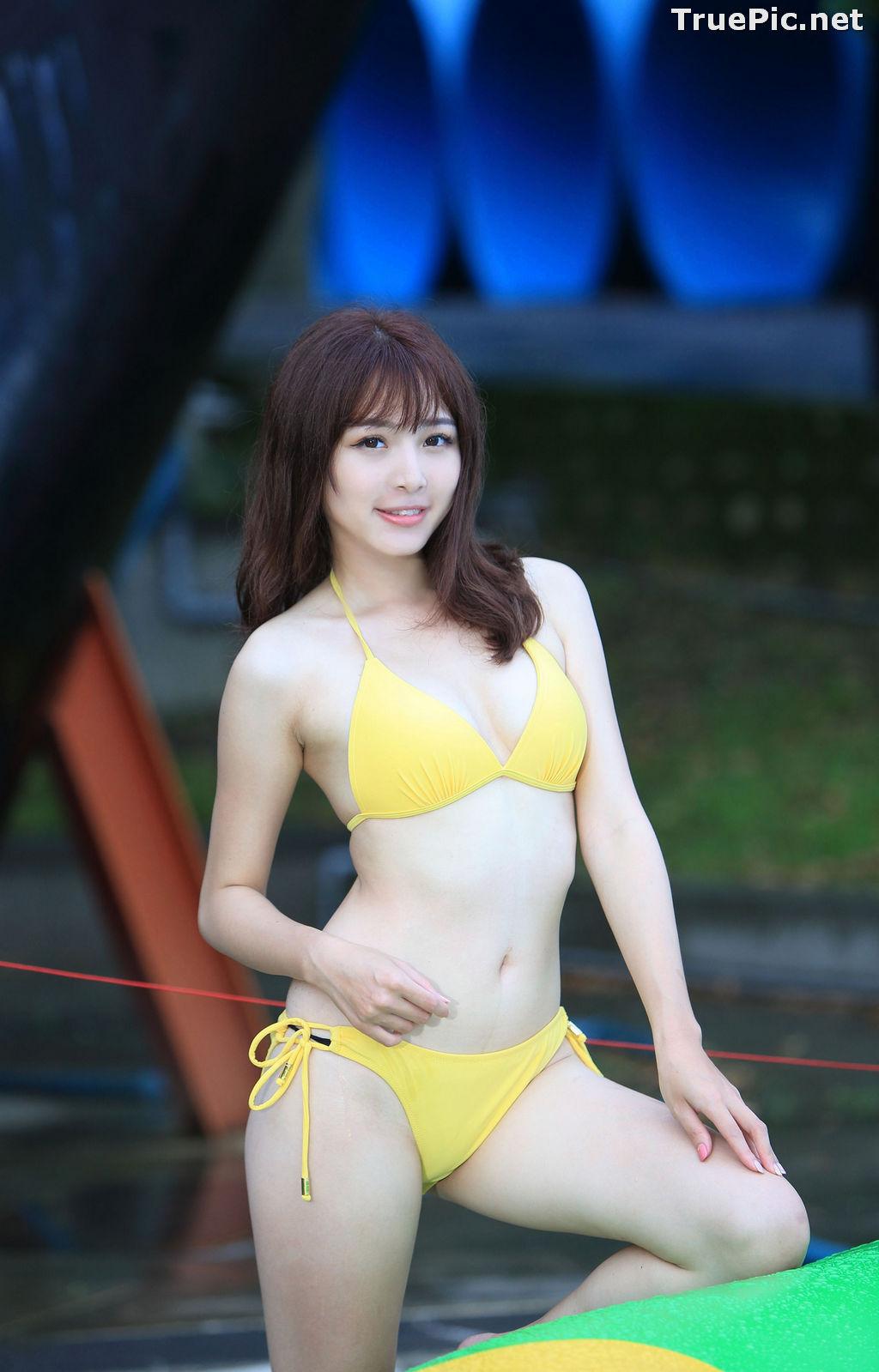 Image Taiwanese Model - Ash Ley - Yellow Bikini at Taipei Water Museum - TruePic.net - Picture-29