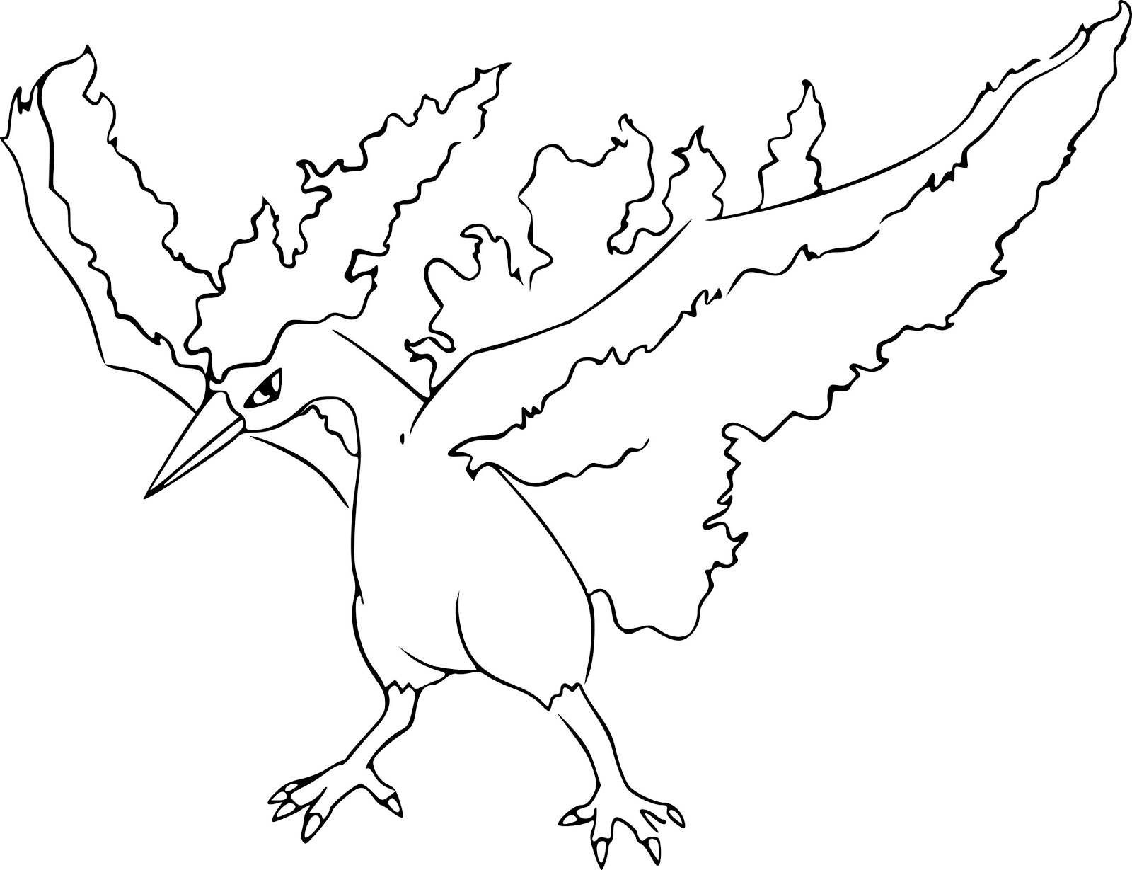 - Moltres Pokemon Coloring Pages - Free Pokemon Coloring Pages