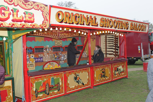 Carters Steam Fair original shooting saloon stall.