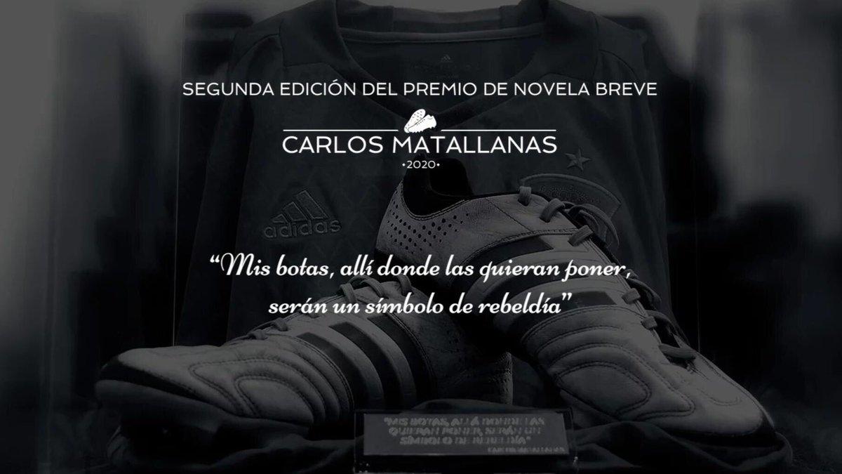9cbc774b589 Las botas con las que jugaba Carlos Matallanas, periodista, ex futbolista,  único miembro honorífico de AFE e incansable luchador contra la ELA  (Esclerosis ...