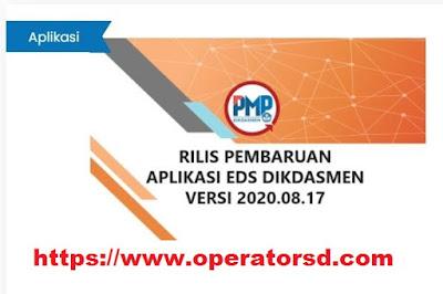 RILLIS PEMBARUAN APLIKASI EDS DIKDASMEN VERSI 2020.08.17 INSTALLER DAN PATCH