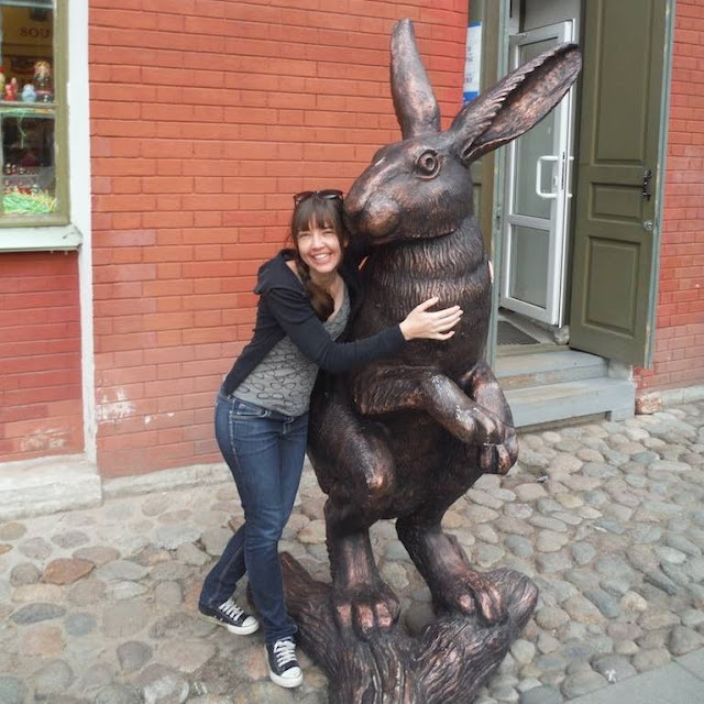 Bunny statue at Peter and Paul Fortress