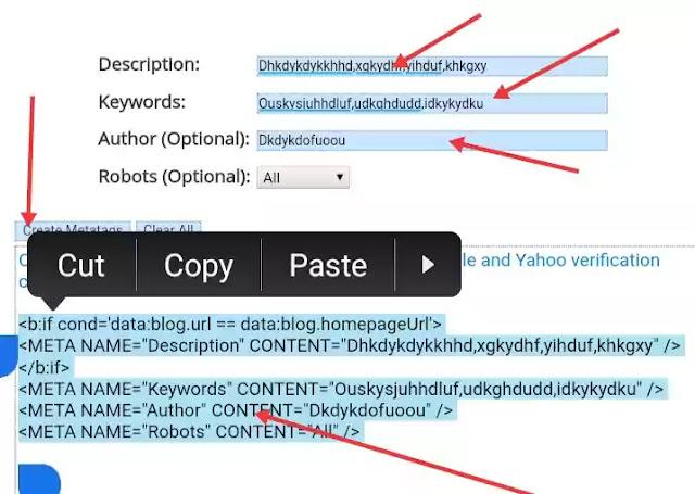 Blog meta tag generate