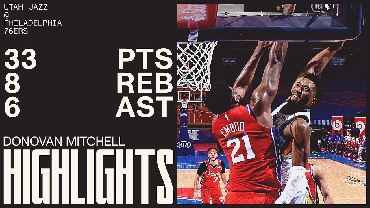 Donovan Mitchell 33pts 8reb 6ast vs PHI   March 3, 2021   2020-21 NBA Season