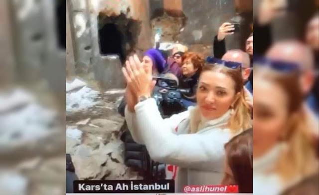 Cantante turca baila sobre altar armenio