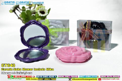 Cermin Saku Mawar Include Mika