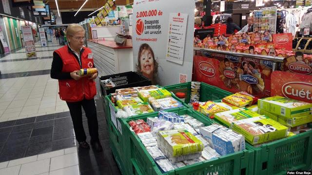 recogida de alimentos de Cruz Roja