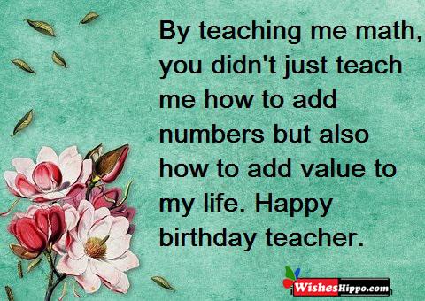 149 Heart Touching Birthday Wishes For Teacher In Hindi And English 2021 Wisheshippo