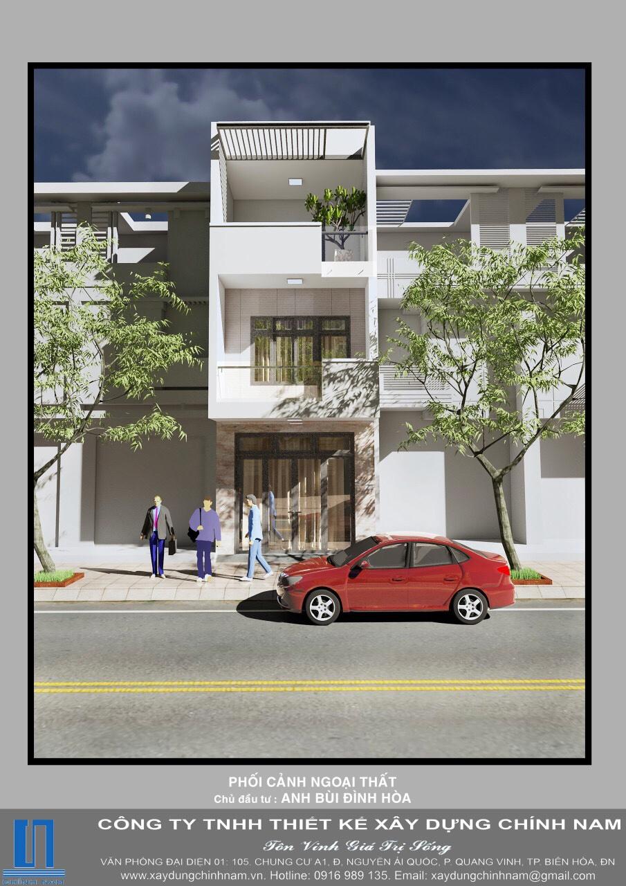 Thiết kế và thi công trọn gói nhà - chú : Bùi Đình Biên – Bửu Long