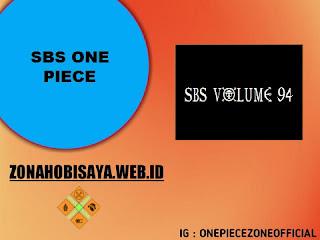 Hal Menarik pada SBS Vol.94 [One Piece]
