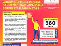 [GRATIS] Apresiasi Wirausaha Muda Pemula Tahun 2021, Hadiah 360 Juta