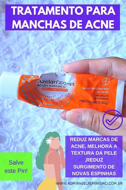 resenha Azelan creme para tratar manchas de acne