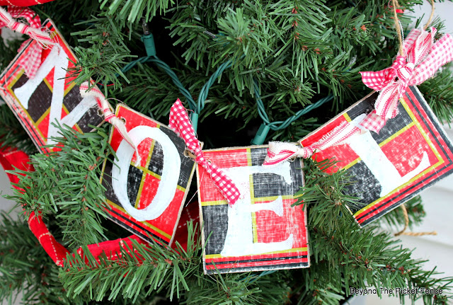 use old checker board to make a garland