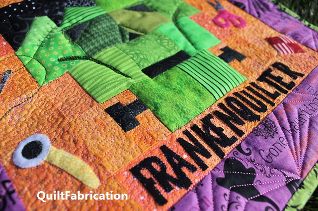 Frankenquilter lettering by QuiltFabrication