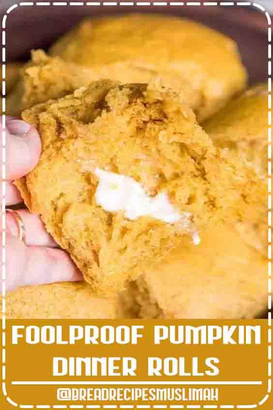 Foolproof Pumpkin Dinner Rolls