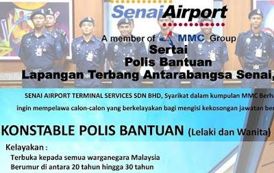 Polis Bantuan Senai Airport Terminal Kerja Kosong
