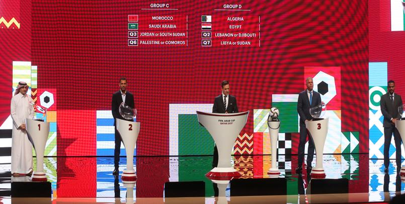 الجزائر في مجموعة واحدة مع مصر+كأس العرب فيفا 2021+المجموعة الرابعة+جميع المجموعات+نتائج قرعة كأس العرب قطر 2021