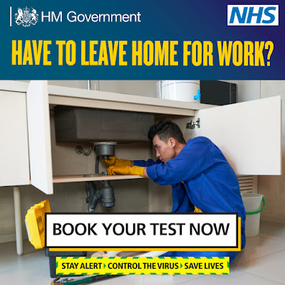 Book your test now UK workers