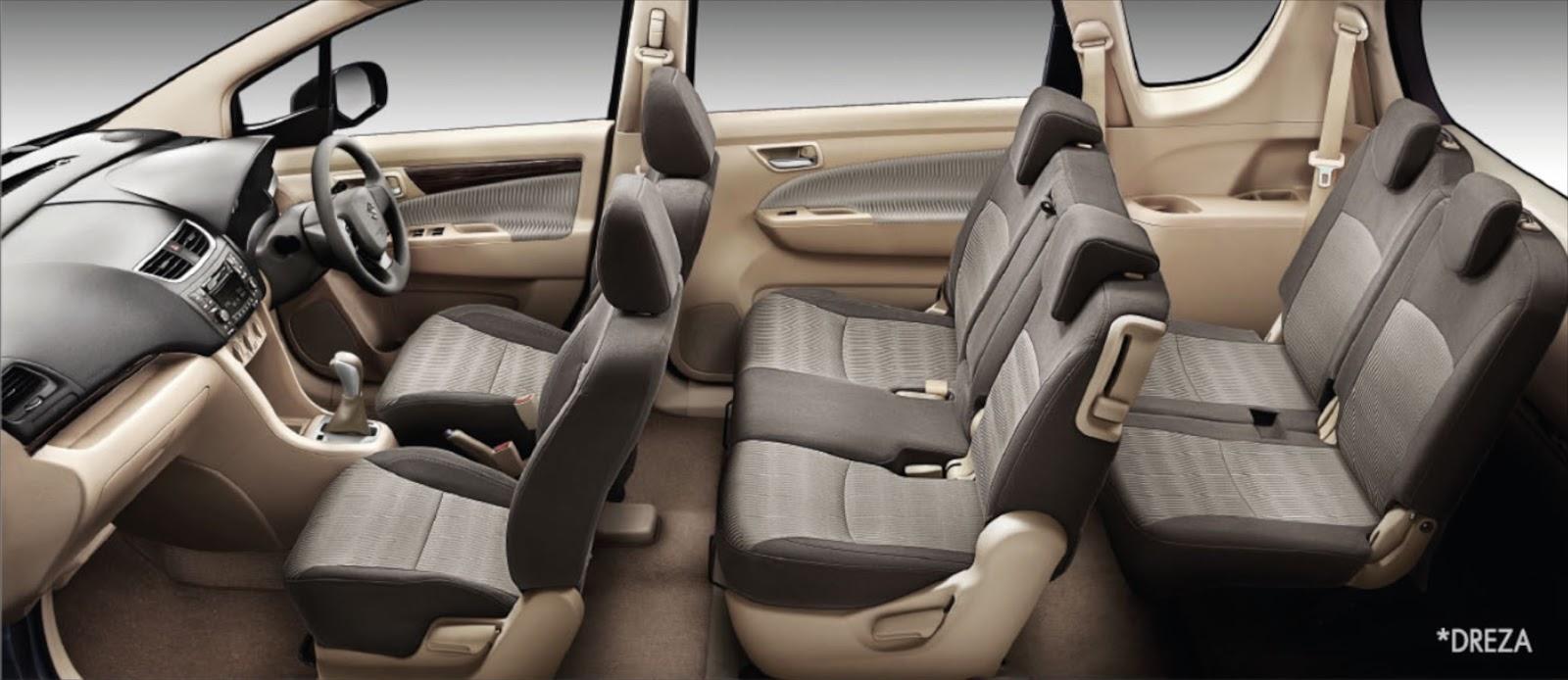Maruti Suzuki Ertiga Seats View Pics HD