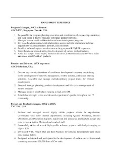 Project Manager Resume Sample